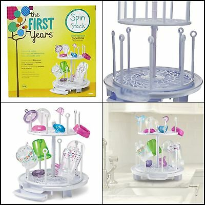 Spin Stack Drying Rack baby 16 Toddler bottles Holder Dryer NIB The First Years