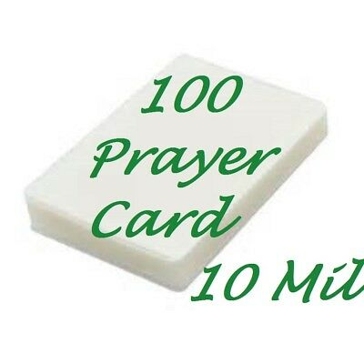 Laminating Pouches Sheets Prayer Card 100 10 Mil 2-3/4 x 4-1/2  Free Carrier's