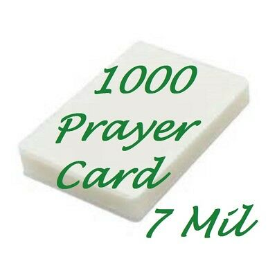 Laminating Pouches Sheets Prayer Card 1000 7 Mil 2-3/4 x 4-1/2 Free Carrier's