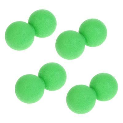 4 x Double Lacrosse Massage Ball Myofascial Trigger Point Release Green