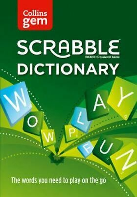 NEW Collins Scrabble Dictionary Gem Edition By Collins Dictionaries Paperback