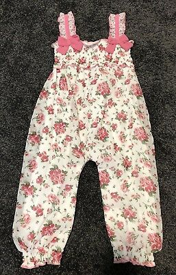 Baby Girls Floral Summer Playsuit Jumpsuit Size 2 24m
