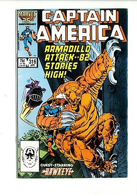 Captain America # 316 Nm- Marvel. April 1986