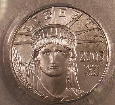 """2005 PCGS """"First Strike"""" MS-69 $25.00 American Eagle Platinum Coin"""