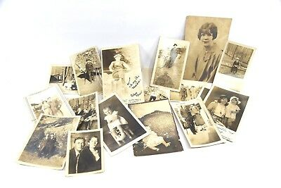 Lot of 17 Original Vintage Photos RPPC Children 1920's to 1930's HOT SPRINGS NP
