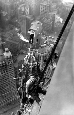 "VINTAGE 1940's HIGH-RISE BUILDING PAINTERS IN NEW YORK CITY * WP36 * 5""x7"" PHOTO"