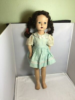 Vintage Pigtail Composition Doll  18'' Tall