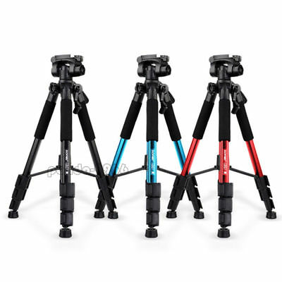 "Q111 Professional Camera Tripod 55"" Aluminum Sturdy & Pan Head for DSLR Camera"