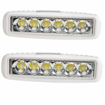 2 Pcs 18W LED Work Light Bar Spot Offroad Truck Car SUV ATV Driving Fog Lamps