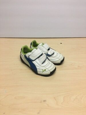 Puma Leather Toddler  Boys Shoes White And Blue Size Usa9 Eur 25