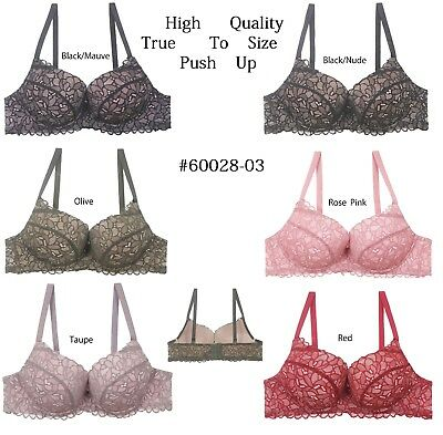 287976f816808 WOMENS FLORAL LACE Underwired Side Support Super Boost Plunge Push ...