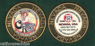 Nevada Brothel Metal Cathouse Gold TOKEN  Legal  Whorehouse - Cotton Tail Ranch