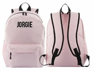 School Travel Personalised Backpack Kids Backpack - Pink
