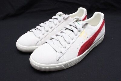 half off 51d79 6d555 PUMA CLYDE FROM The Archive - Vaporous Grey/Red Dahlia 36531901