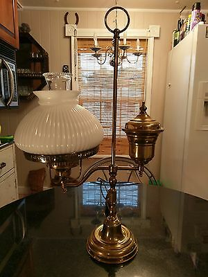 Antique Solid Brass Student Table Lamp
