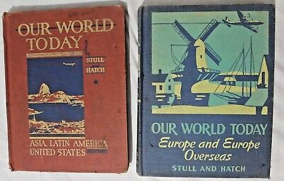 Vintage Lot Of 2 Grade School Geography Books 1944 And 1947