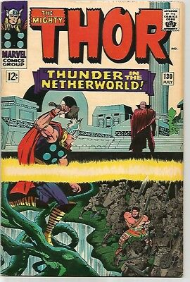 The Mighty THOR #130    Beautiful Early Silver Age - FN/VF7.0