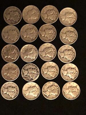 Silver Mercury Dimes 20 Coin Lot