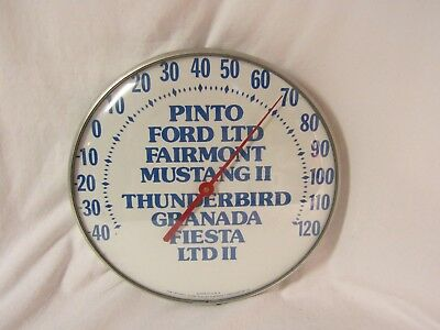 Vintage Ford Dealership Pinto, Mustang, Thunderbird etc. Advertising Thermometer