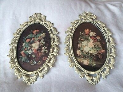 Antique Cast Metal Picture Frames Italy Early 1900's