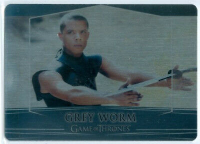 "Grey Worm ""metal Base Card #30"" Game Of Thrones Valyrian Steel"