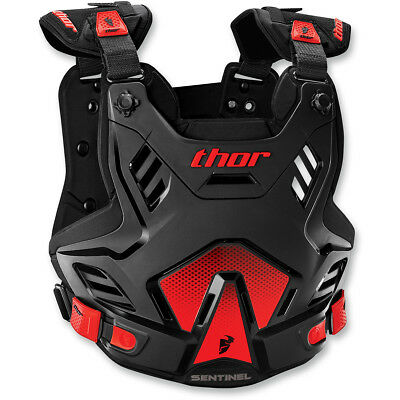 Thor MX NEW Sentinel XP Roost Chest Protector Black Red Body Armour - ADULT