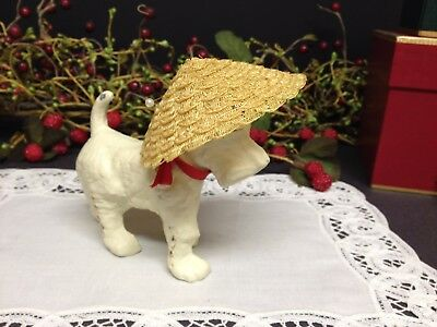 "🌷 Nice Vintage 12"" Ideal Shirley Temple Fancy Straw Hat 🌷"