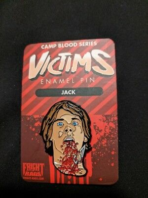 Fright Rags Friday the 13th Victims Jack Enamel Lapel Pin Ratknife Creepy Co
