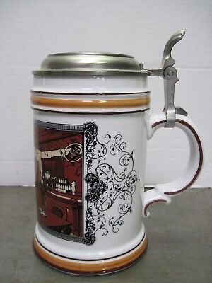 Older Jos. Schlitz Brewing Brown Bottle Inn Lidded Beer Stein / Mug