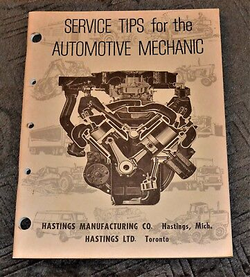VTG 1969 Hastings Service Tips Automotive Mechanic Willys Jeep Mack Buick More