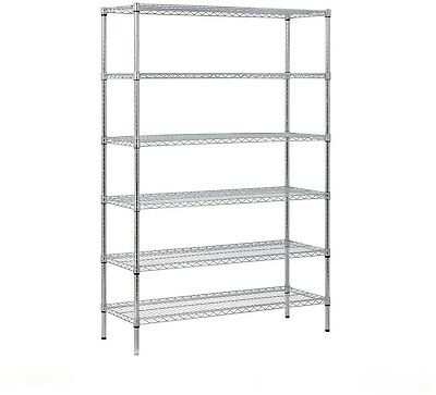 Muscle Rack Heavy Duty Zinc Wire 6-Level Shelving Unit (48'W X 18'D X 72'H)