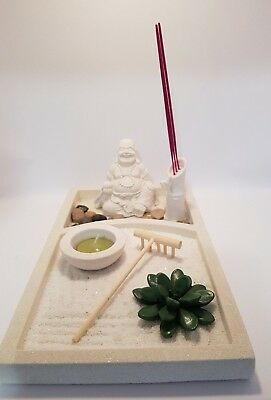 Happy Buddha Zen Garden Tea Light Holder 27cm (Post or Local Pickup)