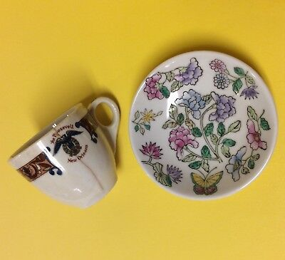 VTG Lot of Two Hotel Memorabilia Cup and Trinket Dish