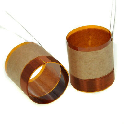 2 pieces 25.5mm Pure Copper Wire Repair Part Woofer Bass Speaker Voice Coil