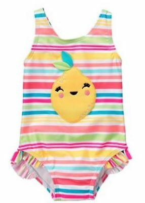 NWT Gymboree Girls Lemon Swimsuit Toddler many sizes UPF 50+
