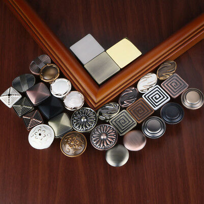 6pcs Cabinet Door Knob Drawer Pull Round Metal Handle Heirloom Bathroom Kitchen