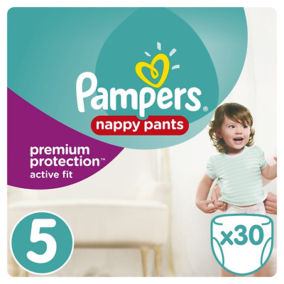 Pampers - Active Fit Pants - Couches-culottes Taille 5 (11-18 kg) - Pack Géant (