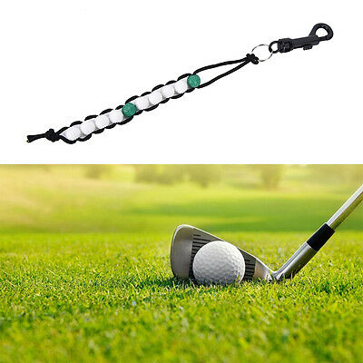 1x Golf Beads grün Stroke Shot Score Counter Keeper mit Clip *M