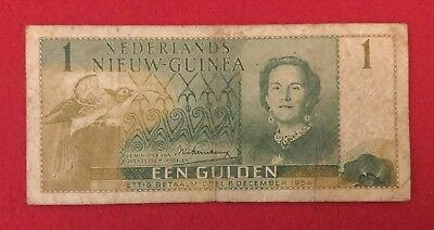 1954 Netherlands New Guinea One Gulden Banknote