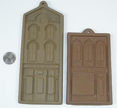Book Store & Sweet (Candy) Shoppe Stoneware Cookie Mold Press by Hartstone USA