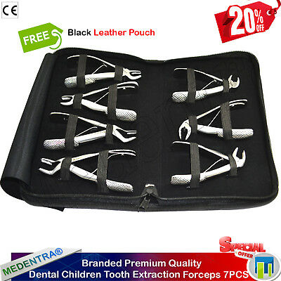 Dental Children Tooth Extracting Pedo Forceps Kit Extraction Upper Roots Molars