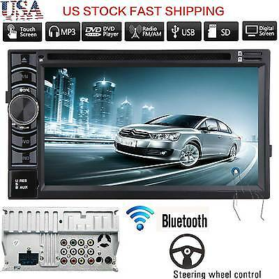 """Double 2DIN 6.2""""  In Dash Car Stereo CD DVD Player USB TV Bluetooth AM FM Radio"""