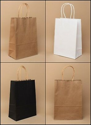 Paper Gift Bags Paper Twisted Rigid Handle Wholesale Party Food Shop Craft Bag