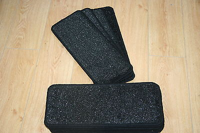14 Black Glitter Stair Pads Carpet Stair Treads Black Sparkle Pad! Large Pads