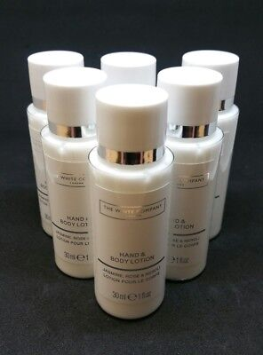 Luxurious The White Company Hand & Body Lotion 6 X 30ml = 180ml SAVE £££