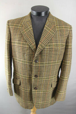 VINTAGE 1970's HARDY AMIES HEPWORTHS PURE WOOL SCOTCH TWEED JACKET 42 INCH
