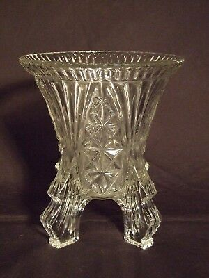 Antique 1934 Libochovice Glass Rocket-Finned Vase (Perfect Mint Condition)