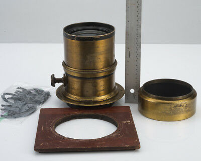 Large Antique Brass Lens for 8x10 Wetplate Unique Find No Reserve Auction!