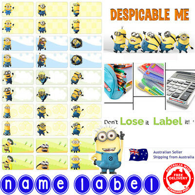 Minion kids Personalised Name Label preschool back2school pencil name sticker