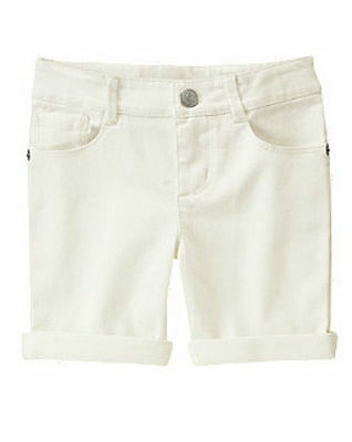 NEW Gymboree White Shorts Adjustable Waist Girls Size SM Small 5
